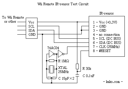 wii ir camera as standalone sensor let s make robots robotshop kaku has been used a similar circuit a crystal oscillator